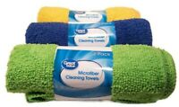 """6 Microfiber Cleaning Towels WASHABLE REUSABLE Cloth 12"""" x 15"""" Clean Dust Polish"""