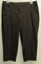 NWT Lane Bryant Brown Crop Capri Rayon Nylon Stretch Pants Plus sz 16