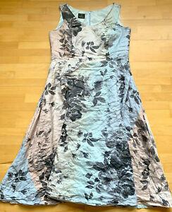 Madleine*Kleid*Sommerkleid*Petticoat*grau-blau-rosa*Gr.42*Tellerrock