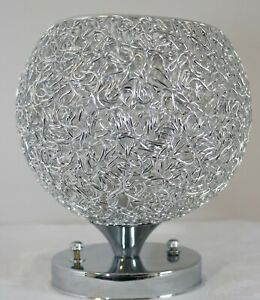 SILVER CEILING LIGHT FITTING NEW