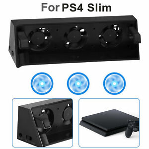 3 Fan External Cooling Fan Cooler Temperature Control for Playstation 4 PS4 Slim