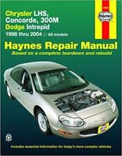 Haynes CHRYSLER CONCORDE (98-04) LX LXi Owners Service Workshop Manual Handbook