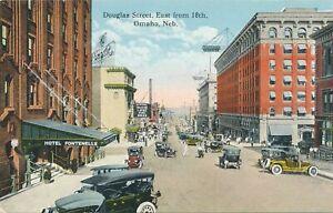 OMAHA NE - Douglas Street East from 18th