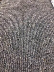 Carpet Remnant Roll End Heavenly Nickel Grey Wool Loop Pile 4x3m 50% OFF