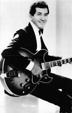TRINI LOPEZ Guitarist Musician & Gibson Jazz Guitar RPPC ca 1960s Postcard