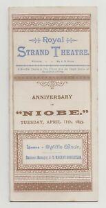 """ANTIQUE VICTORIAN ERA THEATRE PROGRAMME """"Niobe"""" Royal Strand Theatre"""
