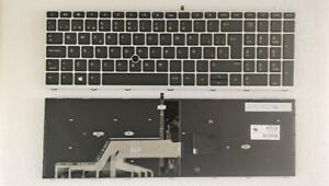 NEW For HP ProBook 650 G4 650 G5 Keyboard Backlit Spanish pointer Silver