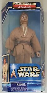 STAR WARS ATTACK OF THE CLONES OBI WAN KENOBI WITH LIGHTSABER FULLY POSEABLE