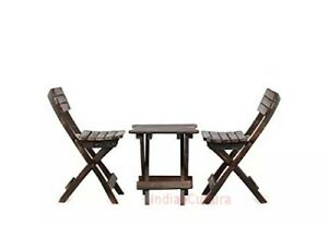 New Indien Child's Folding Table Solid Wood Chair ( 2 Chair 1 Table Set)