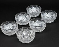 ABP American Brilliant Cut Glass Set of 6 Quarter-Diamond Star Finger Bowls 4.5""