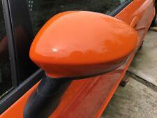 FIAT GRANDE PUNTO LHS DOOR MIRROR HEATED IN ORANGE 551/A & BRAND NEW STALK COVER