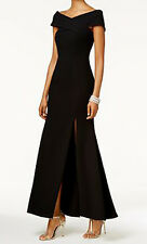 Betsy & Adam New Petite Off-The-Shoulder Gown Size 6P MSRP $279 #2A 55