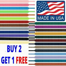 Premium FLAT SPORT Lace Strings - Non-Fraying - Always Stay Tied - Made in USA!