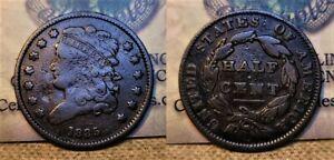 1835 Classic Head Half Cent 1c