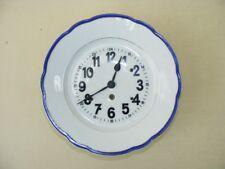 Schöne alte Küchenuhr, Porzellan Wanduhr, 30er 40er Jahre mechanische Uhr