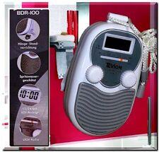 Tevion BDR 200 Mobile Badradio LCD Display Wand Duschradio Uhr Grau Weis Radio