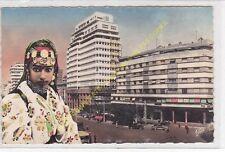 CPSM MAROC CASABLANCA Place de France & Immeuble B.N.C.I. Edit C.A.P.