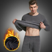 Mens Winter Thermal Underwear Set Long Johns Top & Bottom Warm Sleepwear Set New