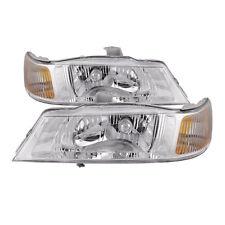 Fits 99-04 Honda Odyssey Headlights Headlamps Pair Set Halogen Replacements New