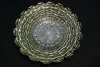 Murano Italian Art Glass Plate or Bowl - Large Size - Greenish Inner Log Design
