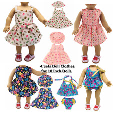 """Doll Clothes Accessories 4 Sets Doll Dress Hats for 18"""" Dolls Doll Outfits 63"""