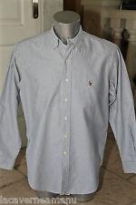 lujosa camisa azul de rayas RALPH LAUREN talla 16 1/2 35 EXCELENTE ESTADO