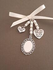 "Wedding Bouquet Photo Charm Locket ""always in my heart"" & ""special nan"" charm"