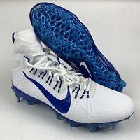 Nike Alpha Huarache 7 Elite Lacrosse Cleats Mens Sz 12 White Blue CJ0224-101
