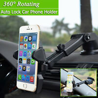 Universal 360° Rotation Car Windshield Mount Holder Cradle For Mobile Phone Lot