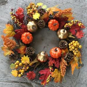 THANKSGIVING AUTUMN HARVEST Garland Fall Maple Leaf Pumpkin Home Party Decor