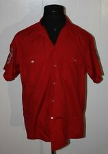 Vintage 1990 Slo Pitch Softball Umpire Minneapolis USSSA Patch Button Shirt XL