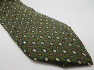 "TOMMY HILFIGER 100% Silk MADE IN USA Green Tie 3.75"" W + 58"" L NWOT [MA-319]"