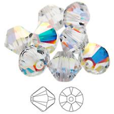 100pcs 3mm/4mm-001AB Swarovski Elements #5328 Xilion Crystal Bicone Beads