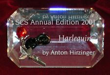 New Swarovski Crystal Harlequin Plaque Annual Edition 2001 Annual Ed Collection