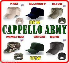 ATLANTIS cappellino ARMY cappello BASEBALL in 6 colori a scelta ESERCITO hats #