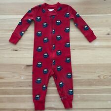 HANNA ANDERSSON Zip Sleeper Pjs Red Hot Cocoa Size 75 (12-18 Months)