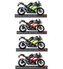 Kawasaki NINJA300 / 250i Fairings Graphic Wrap Kit Decals Set Kawasaki