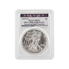 2016 Silver Eagle - San Francisco - PCGS Premier MS69