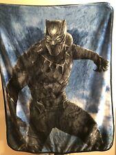 "Marvel Black Panther Super Soft Throw Blanket. 48"" x 38"" Size"