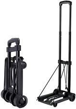 Plastic Folding Luggage Cart With 2 Wheels Lightweight Minisize Hand Truck For T