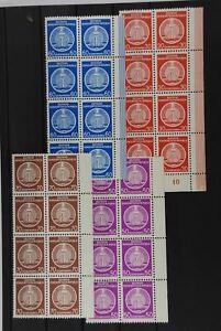 B2 DDR Dienstmarken A 11, 14, 15, 16 je 8 Stück postfr., billigst gerechnet