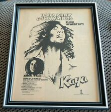 Bob Marley Kaya Album FRAMED Original 1978 Advertisement Vintage Reggae