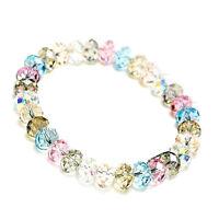 Neu Kristall Perlenarmband Damen Armband-Strass Gummizug Modeschmuck Schmuck`-