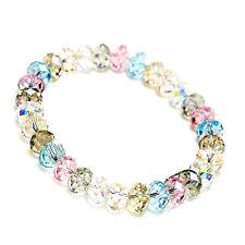 Neu Kristall Perlenarmband Damen Armband Strass Gummizug Modeschmuck Schmuck