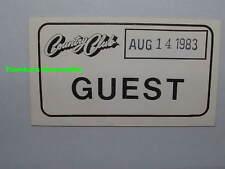 ARMORED SAINT / MOTORHEAD 1983 Concert Ticket / GUEST PASS Reseda LEMMY Rare