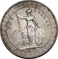 Great Britain UK 1912 B TRADE DOLLAR in China $1 Silver Coin XF Extremely Fine