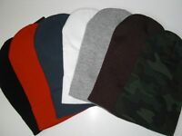 6 PC Beanies Unisex  Warm Plain Cuff Acrylic Knit Ski Skull SNOWBOARD Hat Beanie