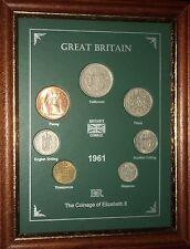 Conjunto de 1961 monedas año enmarcado (Retro 56th Regalo de Cumpleaños Boda Aniversario Regalo)