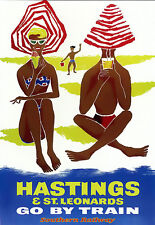 Hastings & St Leonards Go by Train Southern Railway Travel  Poster Print