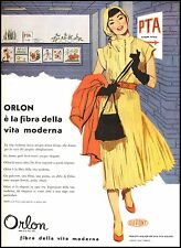 PUBLICIDAD' ORLON FIBRA DE LA VITA MODERNA DU PONT MODA DE MUJER ELEGANCIA 1953
